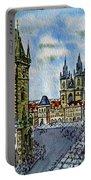 Prague Czech Republic Portable Battery Charger by Irina Sztukowski