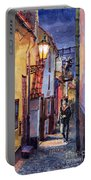 Prague Old Street Golden Line Portable Battery Charger