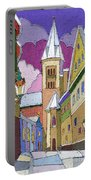 Prague Old Street Jilska Winter Portable Battery Charger