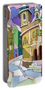 Prague Old Street Karlova Winter Portable Battery Charger
