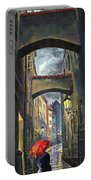 Prague Old Street Love Story Portable Battery Charger
