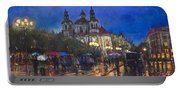 Prague Old Town Square St Nikolas Ch Portable Battery Charger