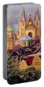 Prague. Roofs. Portable Battery Charger