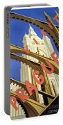 Prague Travel Poster Portable Battery Charger