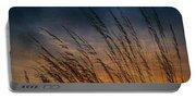Prairie Grass Sunset Patterns Portable Battery Charger