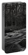 Prairie River Whitewater Black And White Portable Battery Charger