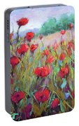 Praising Poppies Portable Battery Charger