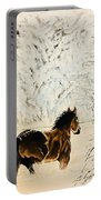 Prancing Through The Snow Portable Battery Charger
