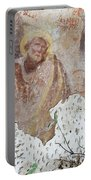 Praying Saint - Old Mural Painting Portable Battery Charger