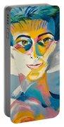 Preciada Azancot Self-portrait With A Dove Portable Battery Charger