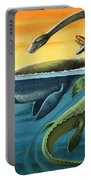 Prehistoric Creatures In The Ocean Portable Battery Charger