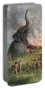 Prehistoric Mammoth Hunt Portable Battery Charger