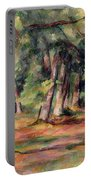 Pres Du Jas De Bouffan Portable Battery Charger by Paul Cezanne