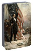President Abraham Lincoln - American Flag Portable Battery Charger