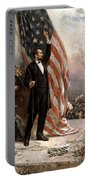 President Abraham Lincoln Giving A Speech Portable Battery Charger by War Is Hell Store