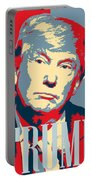 President Donald Trump Hope Poster 2 Portable Battery Charger