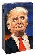 President Donald Trump Portrait Portable Battery Charger