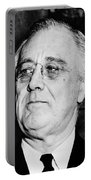 President Franklin Delano Roosevelt Portable Battery Charger by War Is Hell Store