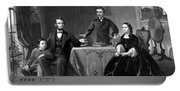 President Lincoln And His Family  Portable Battery Charger
