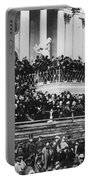 President Lincoln Gives His Second Inaugural Address - March 4 1865 Portable Battery Charger