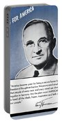 President Truman Speaking For America Portable Battery Charger