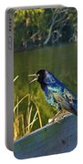 Pretty Bird At A Sunrise Portable Battery Charger