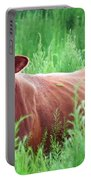Pretty Brown Cow  Portable Battery Charger