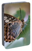 Pretty Butterfly Resting On The Leaf Portable Battery Charger