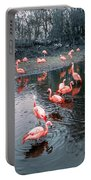 Pretty Flamingoes Portable Battery Charger
