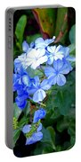 Pretty In Blue Photograph Portable Battery Charger