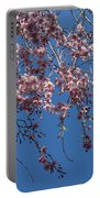 Pretty In Pink - A Flowering Cherry Tree And Blue Spring Sky Portable Battery Charger