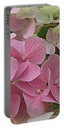 Pretty In Pink Hydrangeas Portable Battery Charger