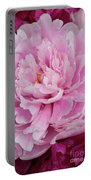 Pretty In Pink Peony Portable Battery Charger