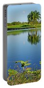 Tranquil Lake In Florida Portable Battery Charger