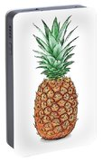 Pretty Pineapple Portable Battery Charger