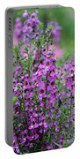 Pretty Pink And Purple Flowers Portable Battery Charger