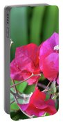 Pretty Pink Flowers 2 Portable Battery Charger
