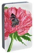 Pretty Poppy Portable Battery Charger