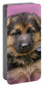 Pretty Puppy In Pink Portable Battery Charger