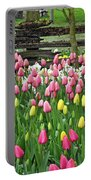 Pretty Tulips Garden Portable Battery Charger