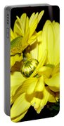 Pretty Yellow Flowers Portable Battery Charger