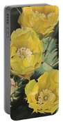 Prickle Pear Cactus Flower Trio Portable Battery Charger