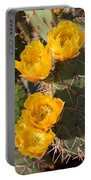 Prickly Pear Cactus Flowers Portable Battery Charger