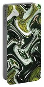 Prickly Pear With Green Fruit Abstract Portable Battery Charger