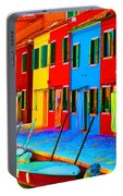 Primary Colors Of Burano Portable Battery Charger