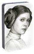 Princess Leia Watercolor Portrait Portable Battery Charger
