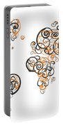 Princeton University Colors Swirl Map Of The World Atlas Portable Battery Charger