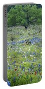 Private Property -wildflowers Of Texas. Portable Battery Charger