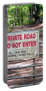 Private Road Do Not Enter Portable Battery Charger