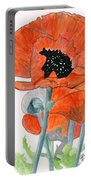 Prize Poppies Portable Battery Charger